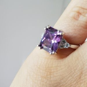 Jewelry - Sterling silver and lab Amethyst ring